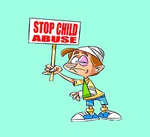 Stop Child Abuse Awareness by Edmond  Hogge