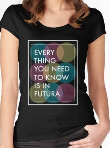 The Truth about Futura  Women's Fitted Scoop T-Shirt