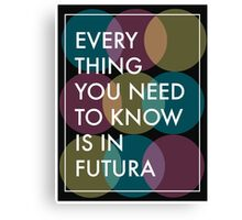 The Truth about Futura  Canvas Print