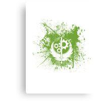 Fallout Brotherhood Of Steel Logo Splatter [V1] Canvas Print