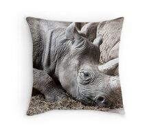 Restful Rhino Throw Pillow