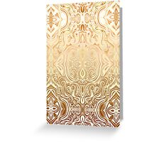 Tribal Swirl Pattern in Neutral Tan and Cream Greeting Card