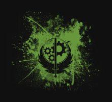 Fallout Brotherhood Of Steel Logo Splatter [V1] by Gnugash