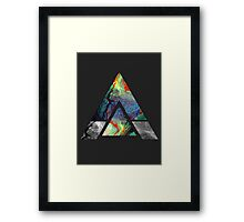 Abstract Geometry: Colorful Psychedelic Oils (Dark Grey) Framed Print