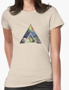 Abstract Geometry: Colorful Psychedelic Oils (Dark Grey) Womens Fitted T-Shirt
