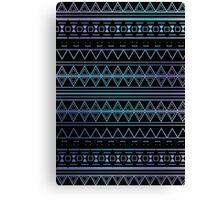 Blue Aztec Pattern Work Canvas Print