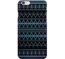 Blue Aztec Pattern Work iPhone Case/Skin