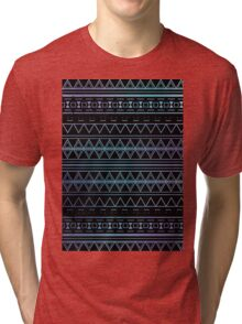 Blue Aztec Pattern Work Tri-blend T-Shirt
