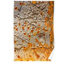The Fire Tree ~ Metal in Abstract Poster