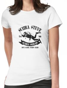 Scuba steve geek funny nerd Womens Fitted T-Shirt