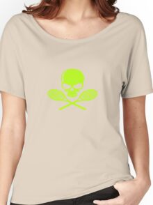 Skull crossed racquets tennis ladies geek funny nerd Women's Relaxed Fit T-Shirt