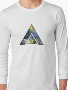 Abstract Geometry: Colorful Psychedelic Oils (White) Long Sleeve T-Shirt