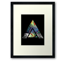 Abstract Geometry: Colorful Psychedelic Oils (Black) Framed Print