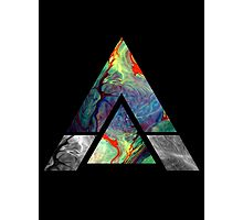 Abstract Psychedelic Oils (Black) Photographic Print