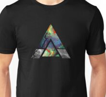 Abstract Geometry: Colorful Psychedelic Oils (Black) Unisex T-Shirt