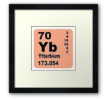Ytterbium periodic table of elements Framed Print
