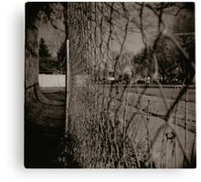 Fences hold you back Canvas Print