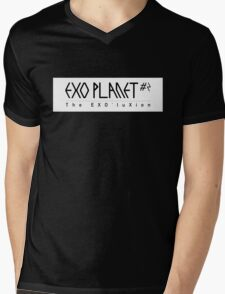 EXO Planet #2 The EXO'luXion Black White Mens V-Neck T-Shirt
