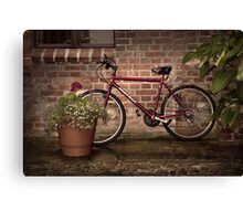 Red Bike Story Canvas Print