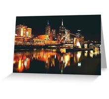 MELBOURNE CITY BY NIGHT Greeting Card