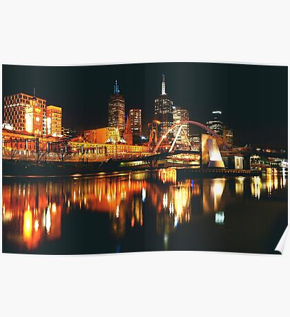 MELBOURNE CITY BY NIGHT Poster