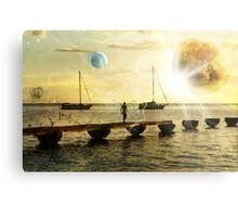 The evolution of love and planets  Metal Print