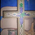 Grape Cross and bedroom mural by redqueenself