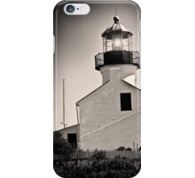 Cabrillo Light House Black and White iPhone Case/Skin