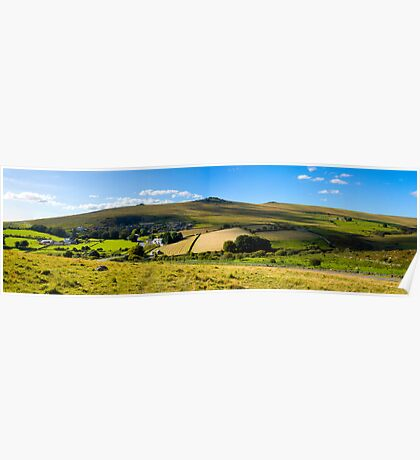 Merrivale Panoramic View on  Dartmoor in Westb Devon Poster