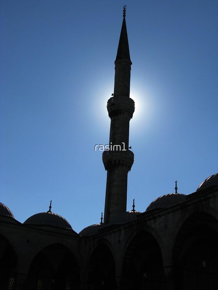 A minaret of Blue Mosque by rasim1