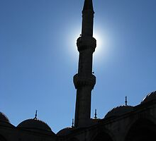 A minaret of Blue Mosque by rasim1