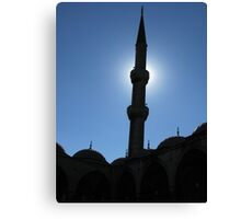 A minaret of Blue Mosque Canvas Print