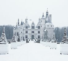 Chenonceau under the Snow by telenna