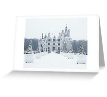 Chenonceau under the Snow Greeting Card