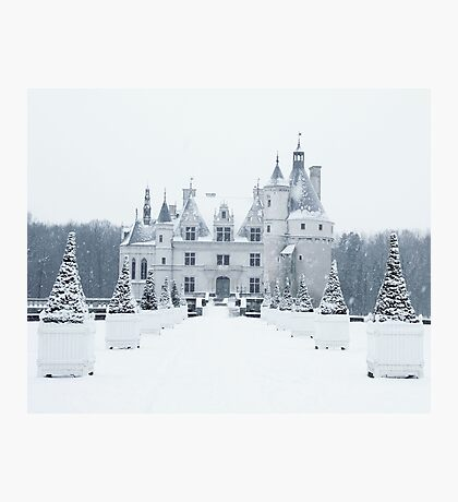 Chenonceau under the Snow Photographic Print
