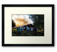 Fire III Framed Print