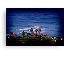 Cabrillo Light House by the Ocean Canvas Print