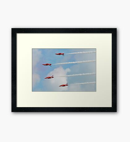 Red Arrows aerobatic team Framed Print