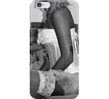 White Corset and Stockings iPhone Case/Skin