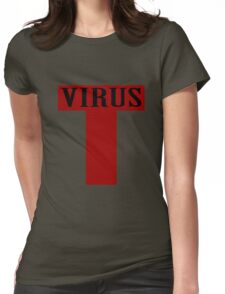 T virus geek funny nerd Womens Fitted T-Shirt