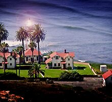 Light House by the Ocean by HeavenOnEarth