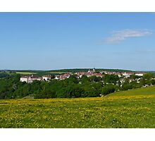 A distant view of Flavigny, France Photographic Print