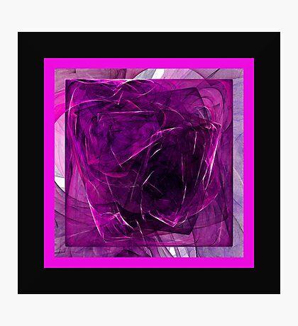 Purple Cube Photographic Print