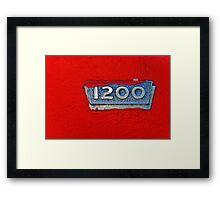 1200 Framed Print