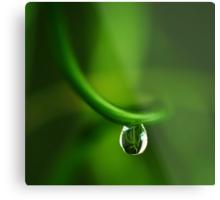 drop in green Metal Print