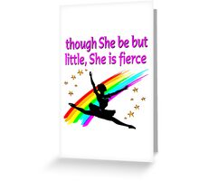 DAZZLING AND DYNAMIC DANCER DESIGN Greeting Card