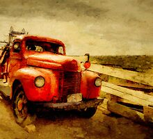 Red Truck by Michael  Petrizzo