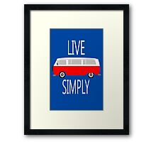 Vintage van retro cool illustration geek funny nerd Framed Print