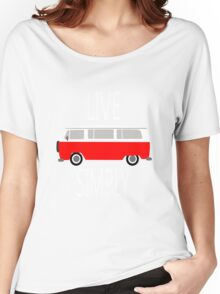 Vintage van retro cool illustration geek funny nerd Women's Relaxed Fit T-Shirt