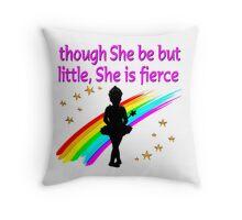 PRETTY PRIMA BALLERINA DESIGN Throw Pillow